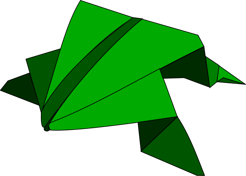 Free Origami - jumping frog