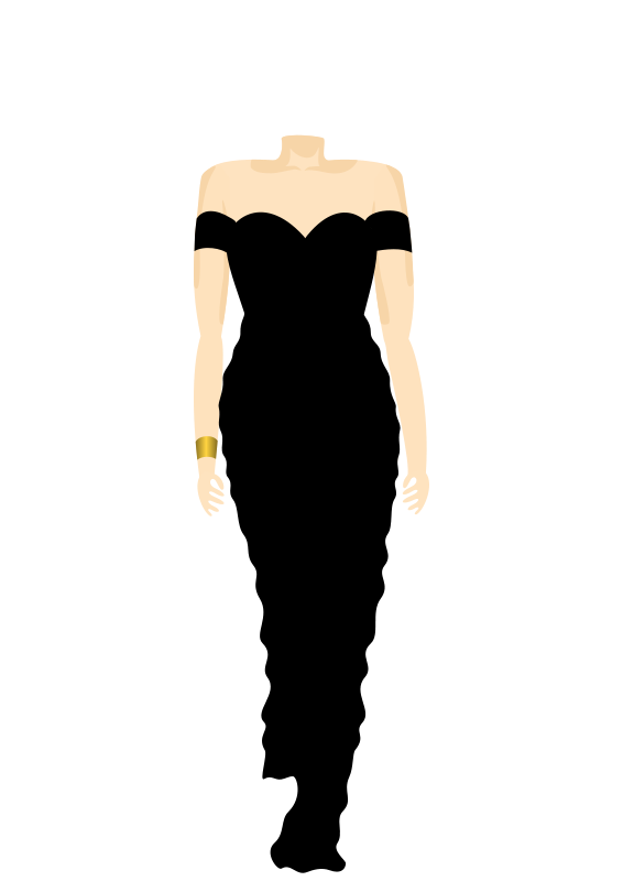 Free 3C, Black Dress, Body