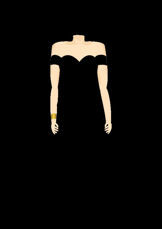 Free 3C, Black Dress, Body