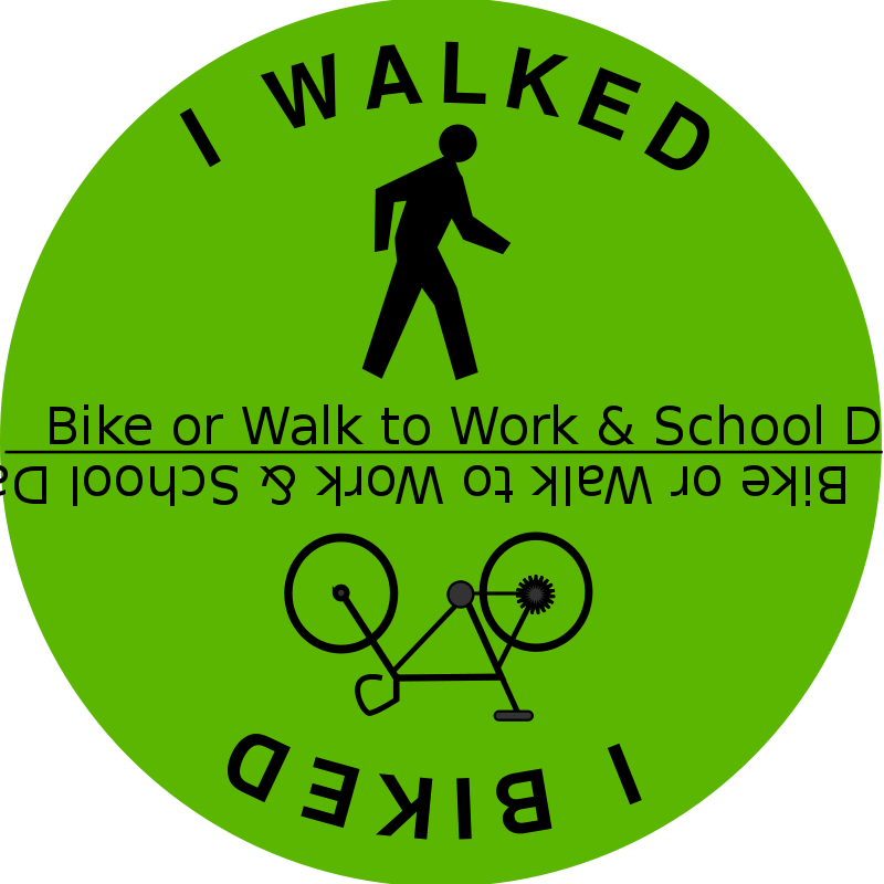 Free Bike or Walk to Work & School Day