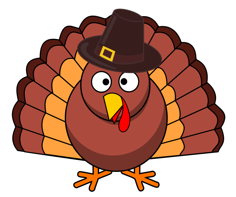 Free Turkey With Brown Hat