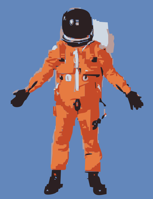 Free Clipart: NASA flight suit development images 351-373 2 | hypermodern