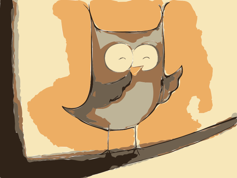 Free Owl Tablet Painting