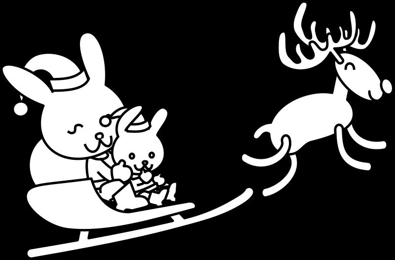 Free Santa Bunny Coloring Page