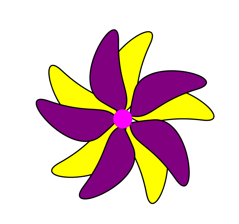 Free Flower - Purple and Yellow