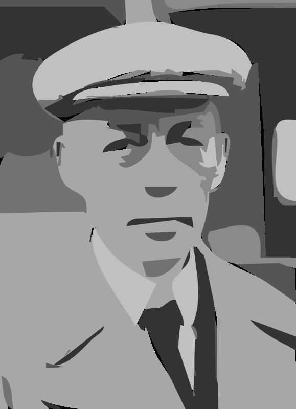 Free Sergei Rachmaninoff LOC 33968 Cropped  (autotrace)