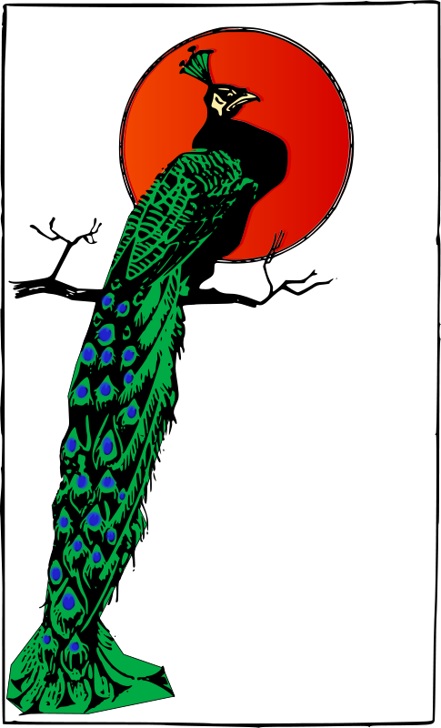 Free Clipart: Angry Peacock | j4p4n