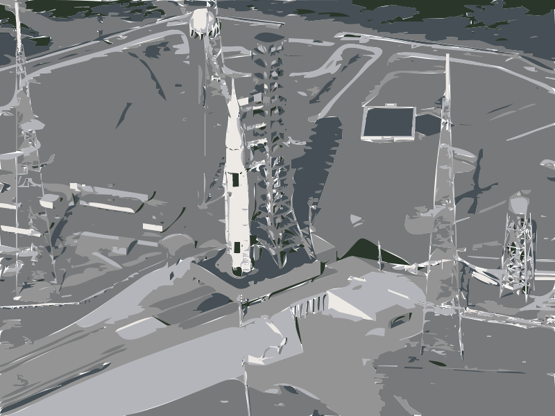 Free Artist concept of SLS on launchpad