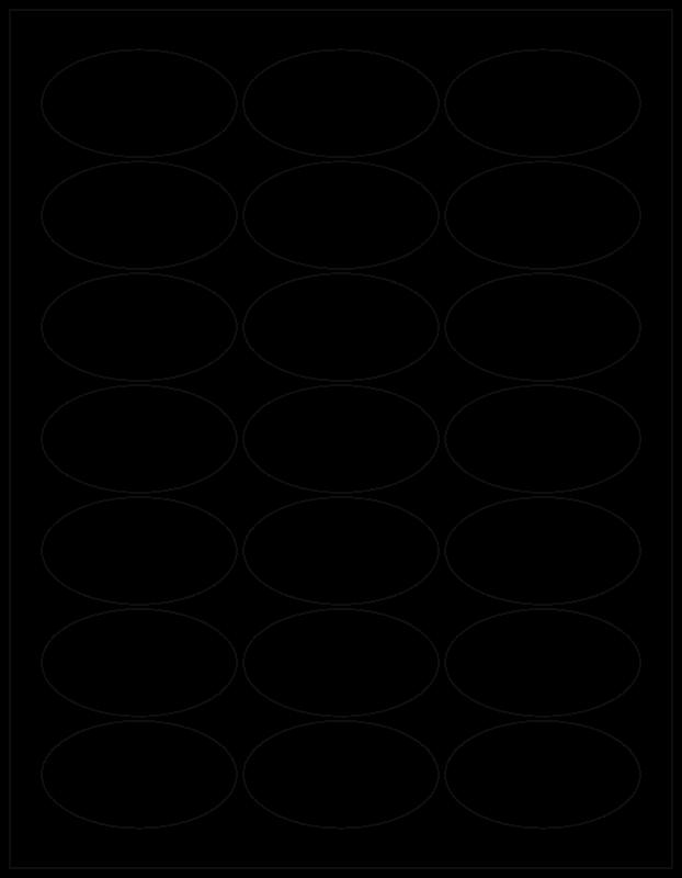 Free WL-9830 Oval laser-Inkjet Labels