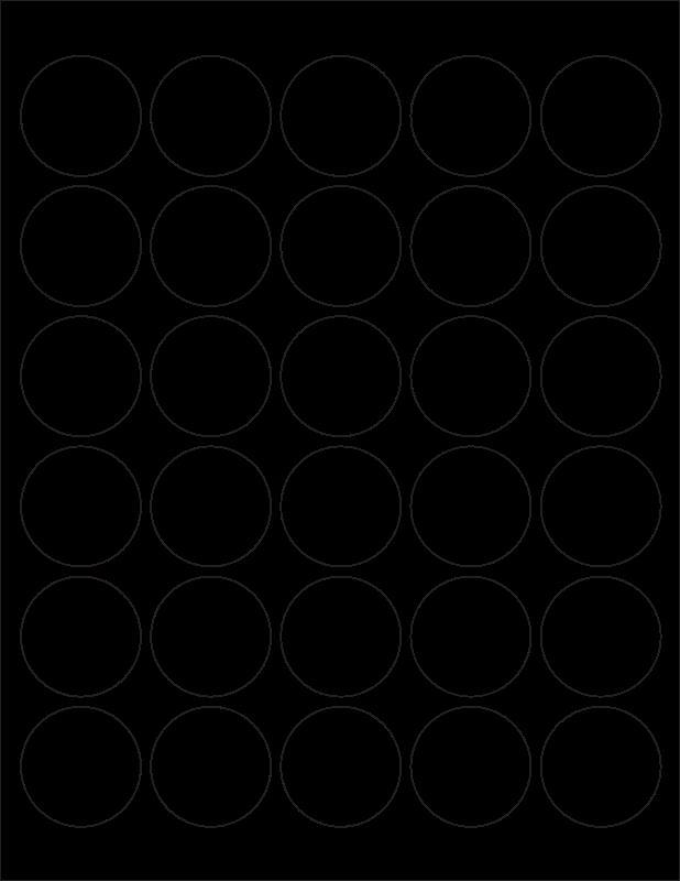 Free WL-2088 Round Label Template