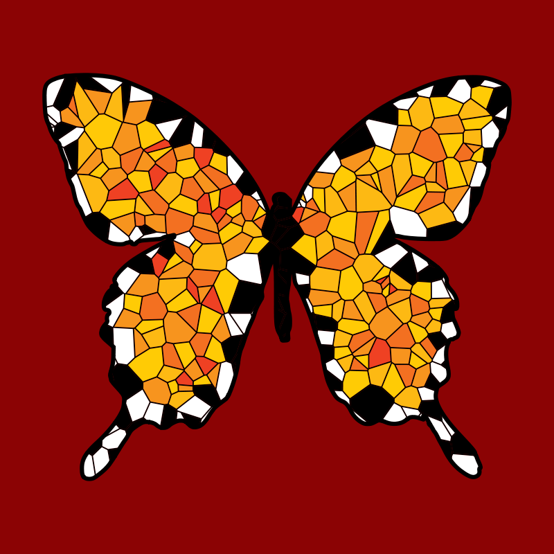 Free Voronoi Butterfly