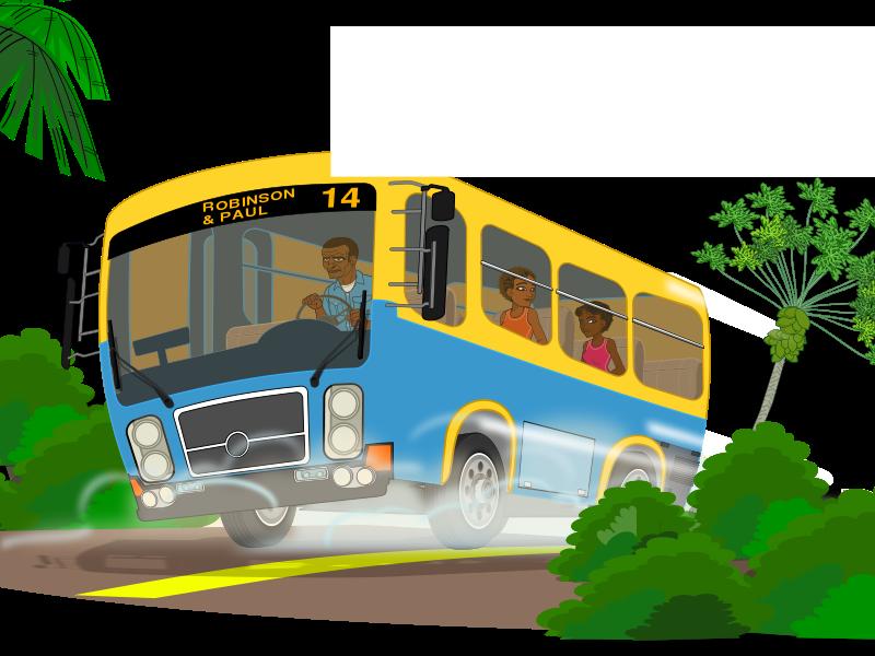 Free Island school bus