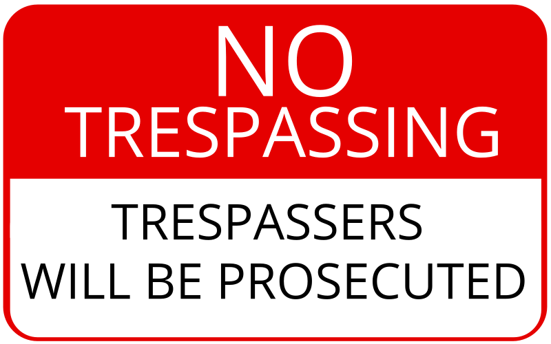 photo about Printable No Trespassing Sign known as Free of charge Clipart: No Tresping Indicator cinemacookie
