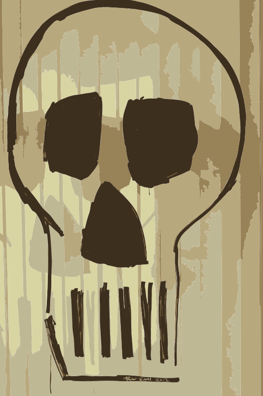 Free Skull Drawing with Montana Markers on Glass