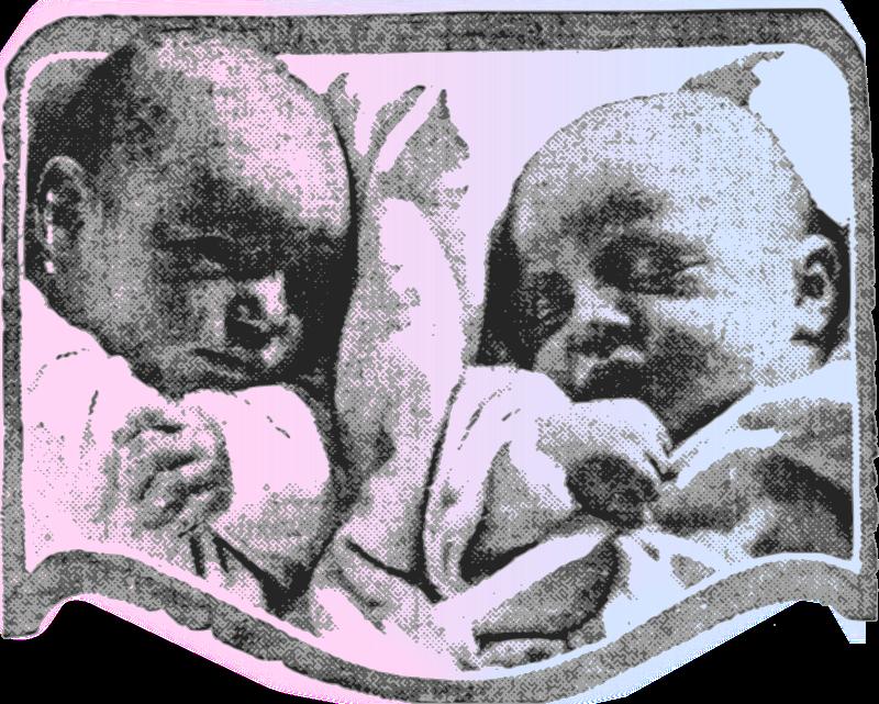Free Cute Babies - Pink & Blue