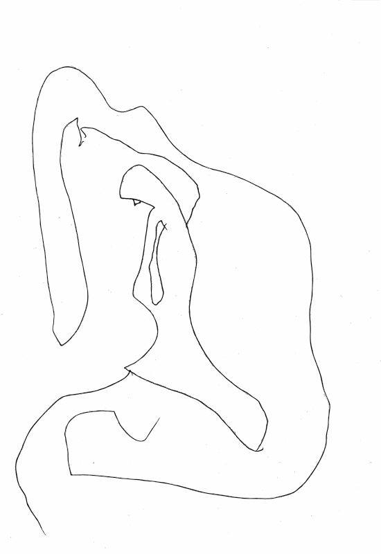Free Mary outside the cave pen drawing