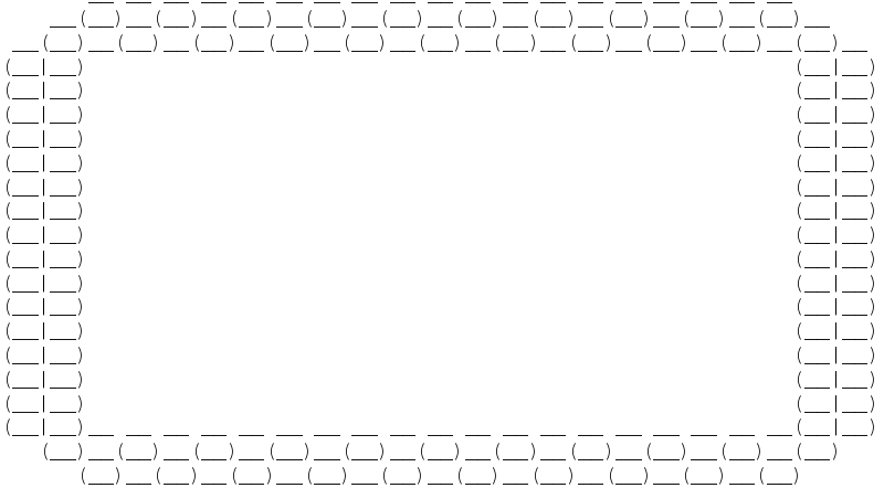 Free ASCII Bubble Border 02