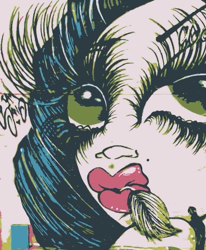 Free Mural of girls face