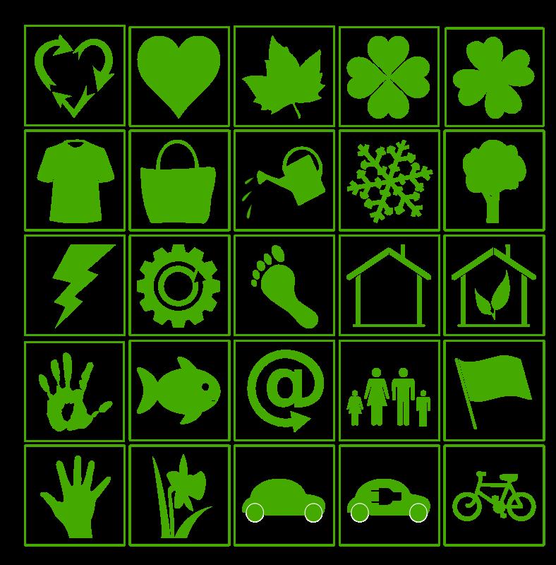 Free eco green icon set