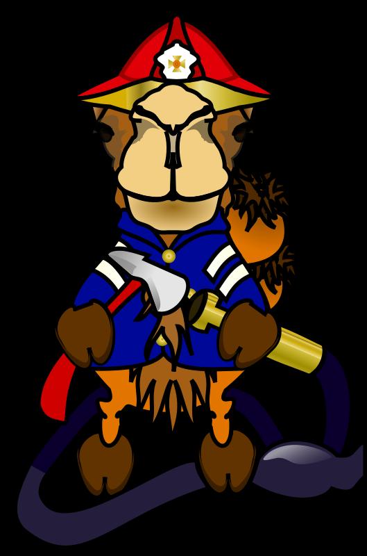 Free Comic Camel - Fireman