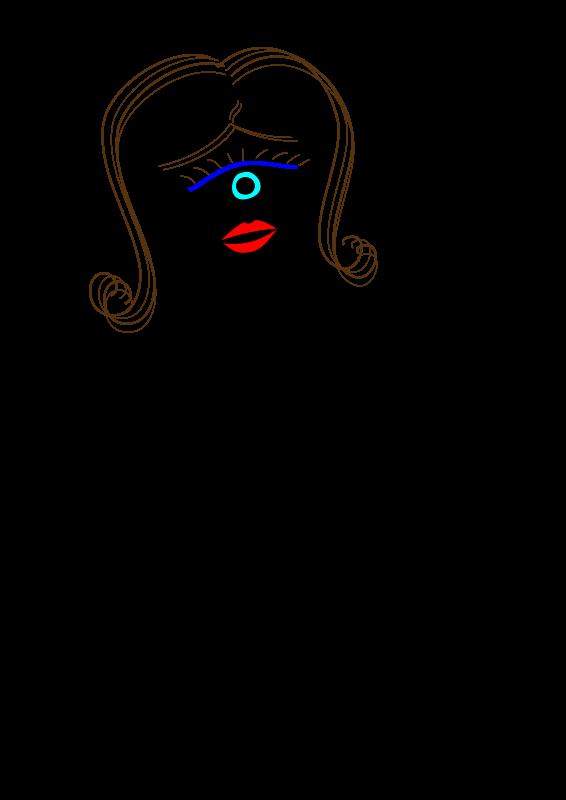 Free Art Line Lady