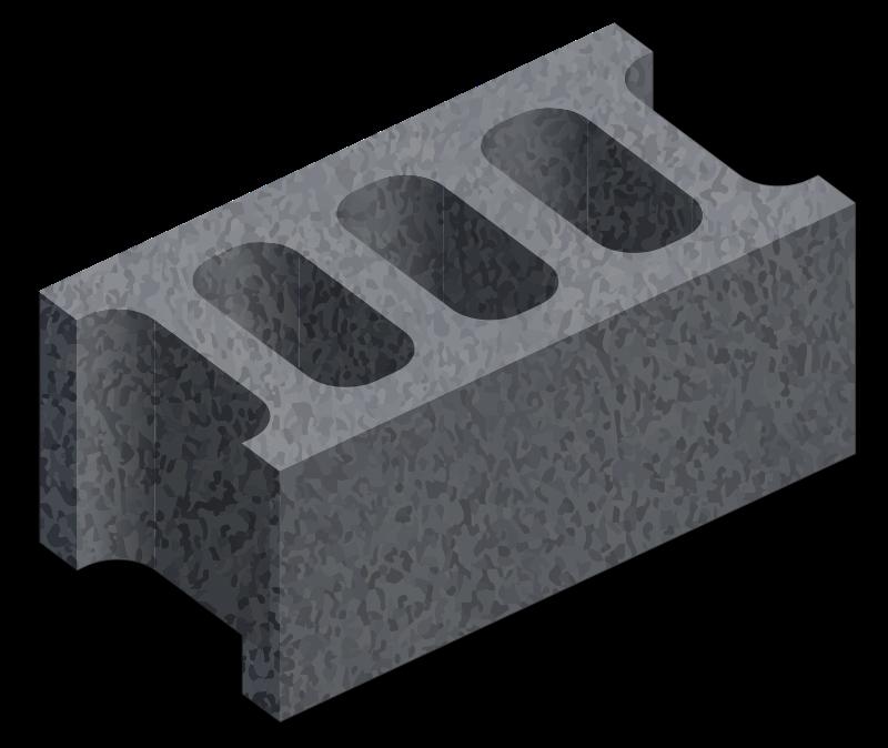 Free hollow bricks