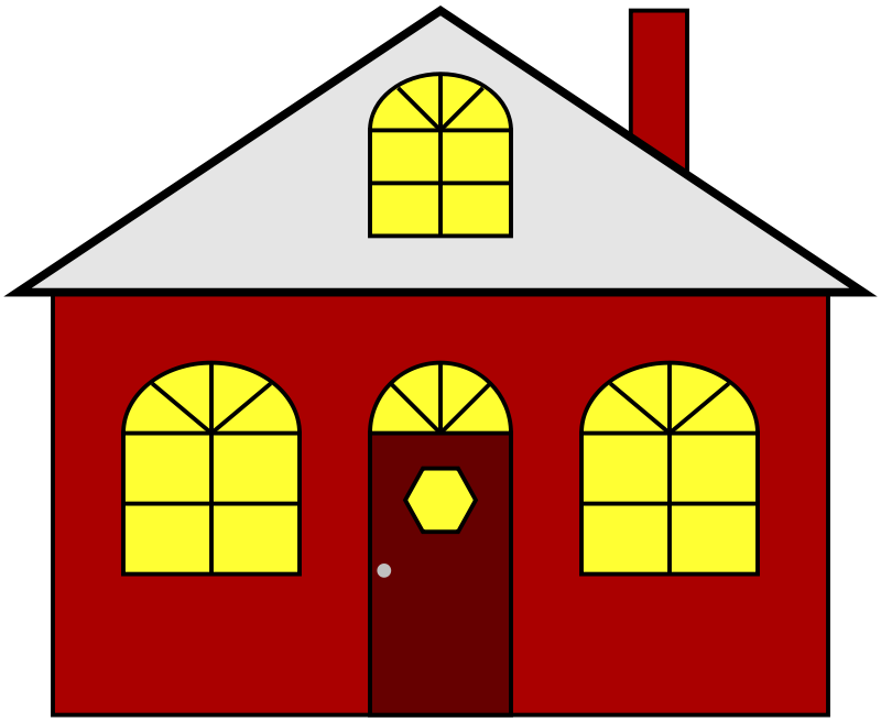 Free Clipart: Lighted House | JayNick