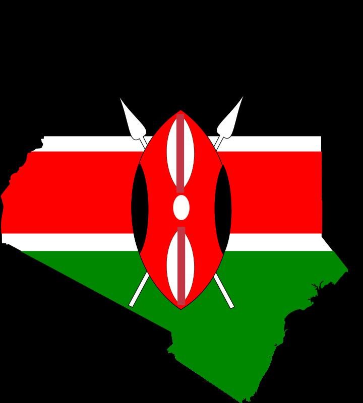 Free Kenya map flag