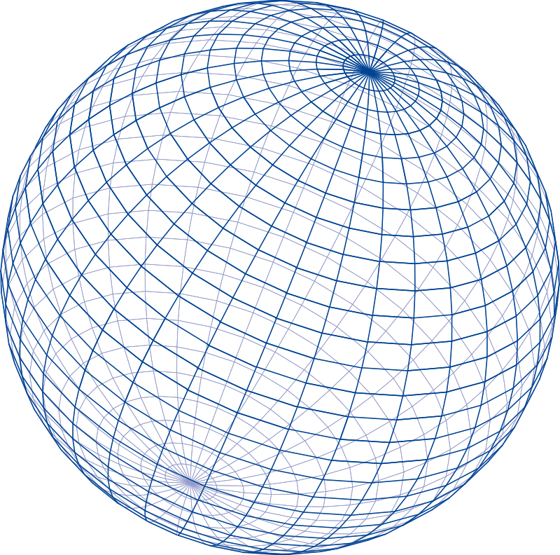 Free Blue grid sphere