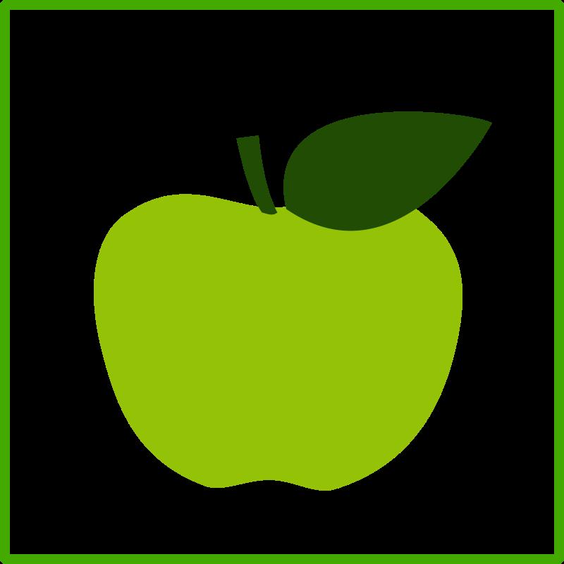 Free eco green apple, icon