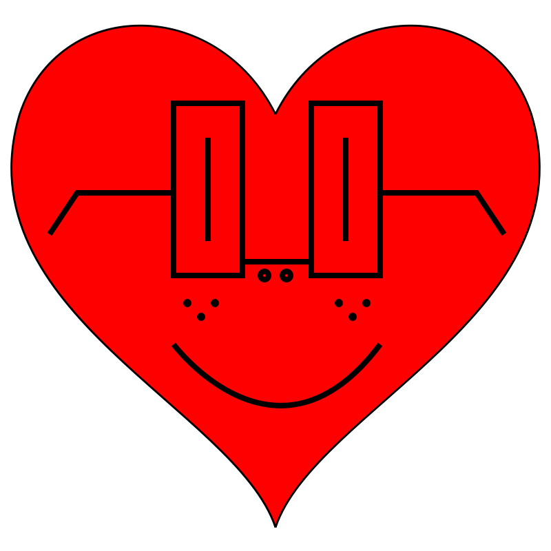 Free Heart Smiley Face