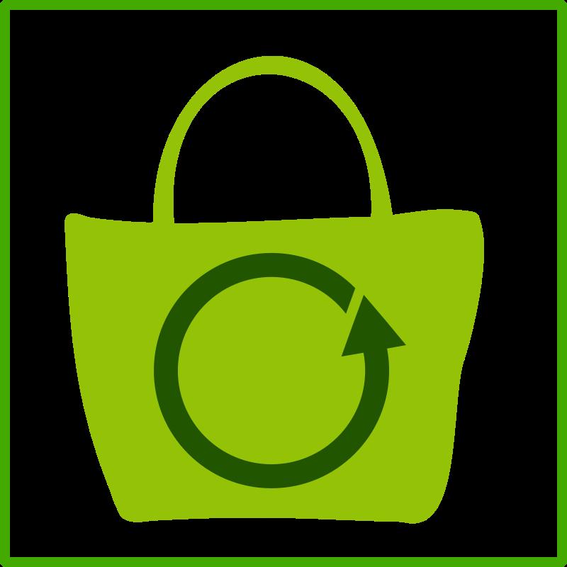 Free eco green shopping icon