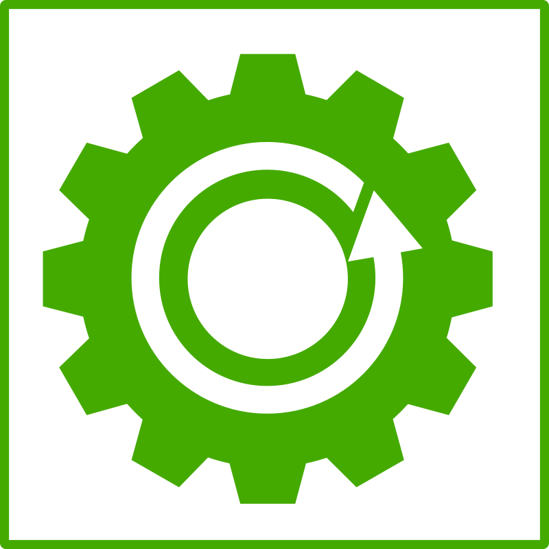 Free eco green recycling icon