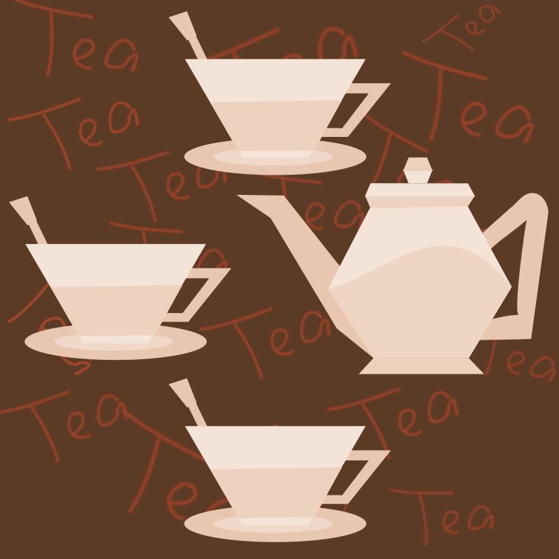 Free tea party background