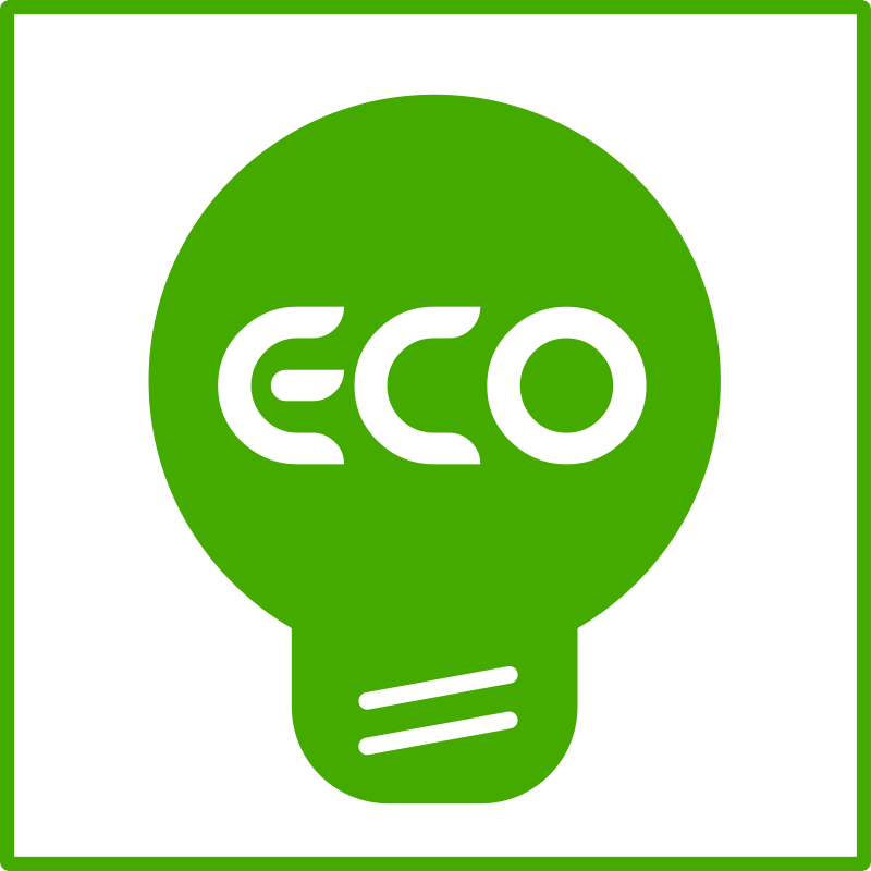 Free eco light bulb green  icon