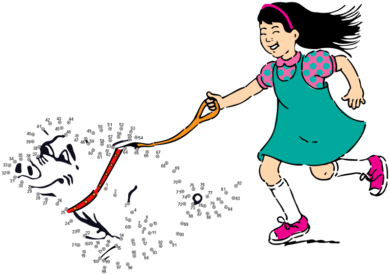 """Free Clipart: Connect the dots - """"walking what?""""   frankes"""