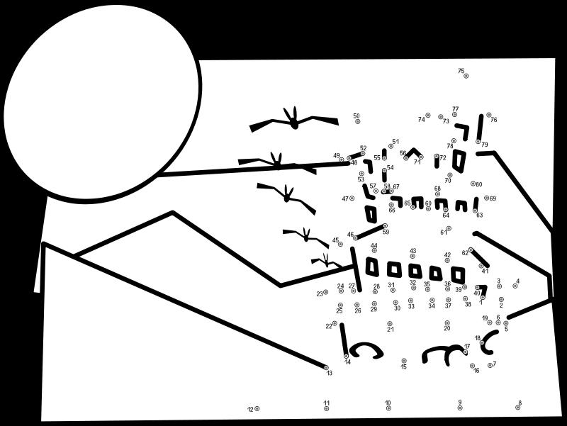 Free Clipart: Connect-the-dots Castle   frankes