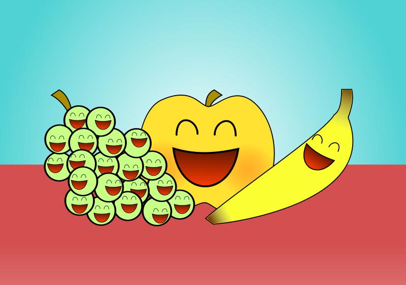 Free happy fruits
