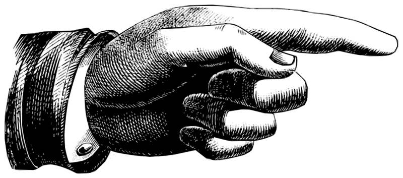 Free pointing hand