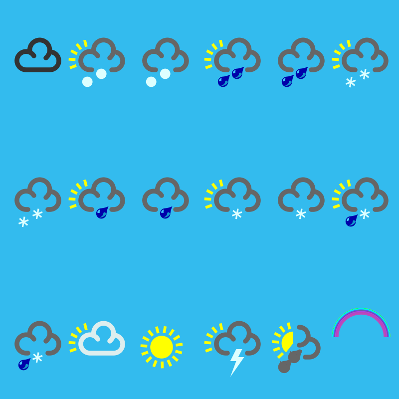 Free Clipart: Weather Icons | peepo