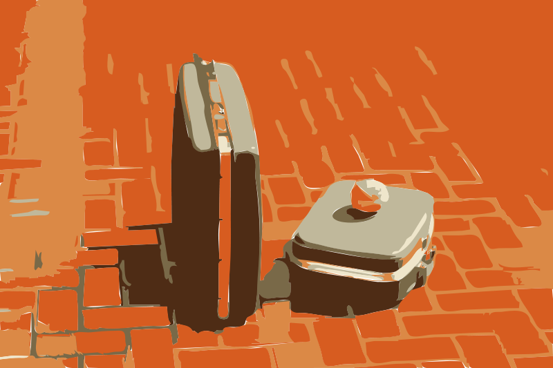 Free Suitcases and Yarn With Brick Texture