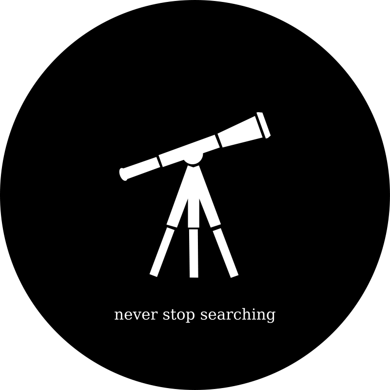 Free Clipart: Never Stop Searching | eternaltyro
