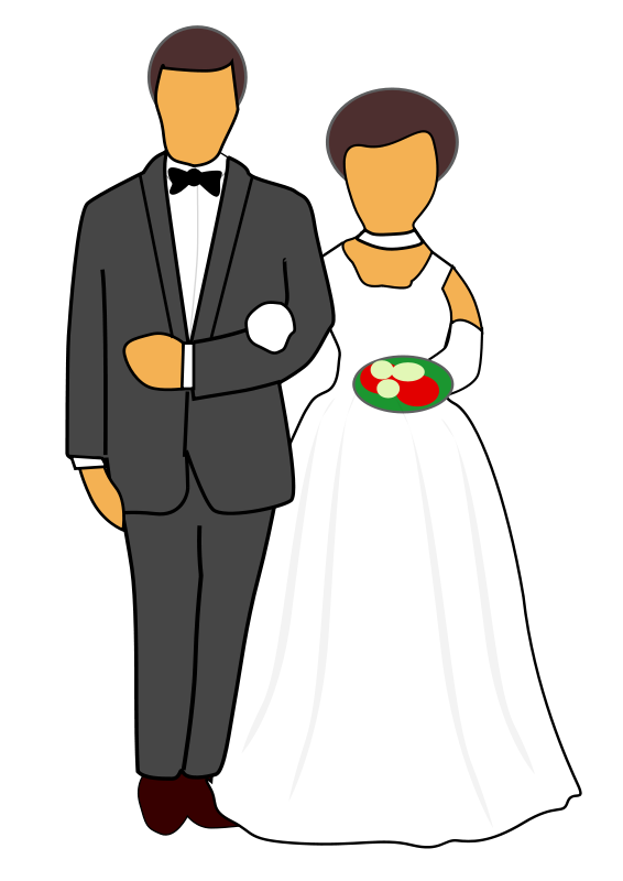 free clipart wedding couple jarno rh 1001freedownloads com wedding couple clipart vector wedding couple clipart png