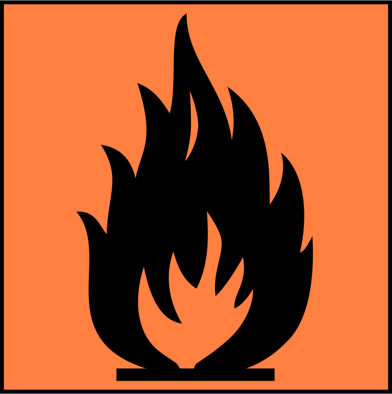 Free Flamable sign