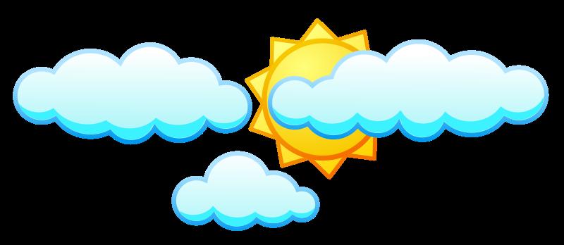Free Sun under clouds