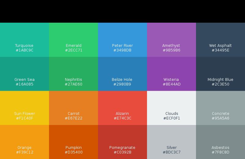 Free Flat UI Colors