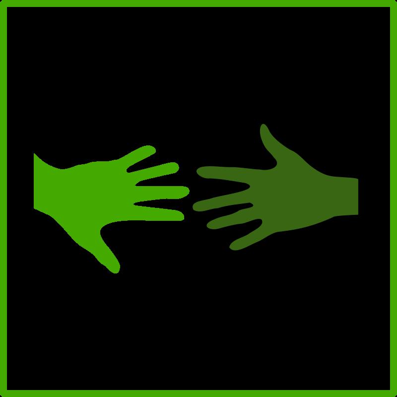 Free eco green solidarity icon