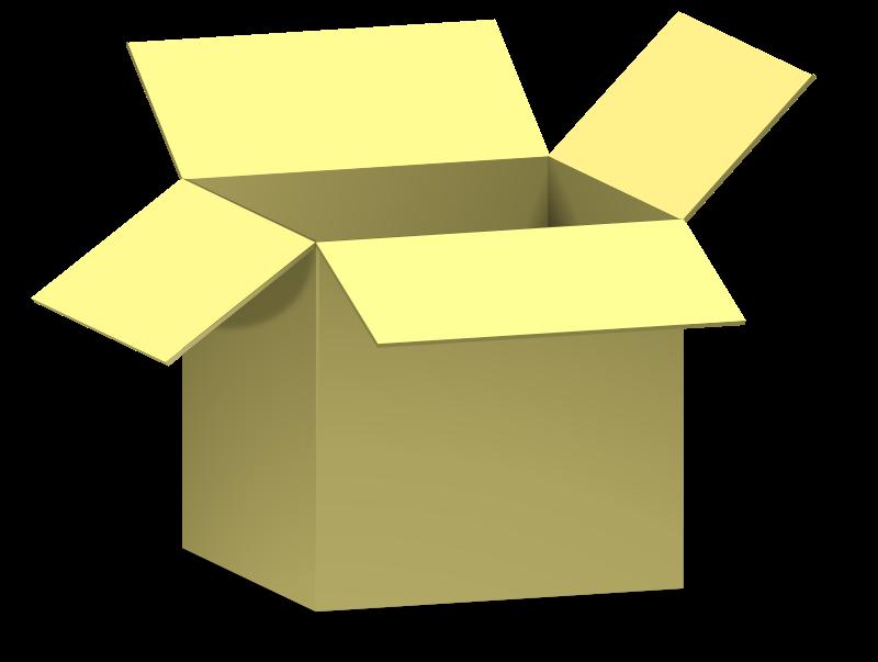 Free box, opened, dežė