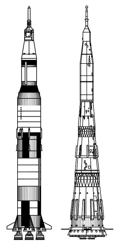 Free Saturn V26 N1 Comparison