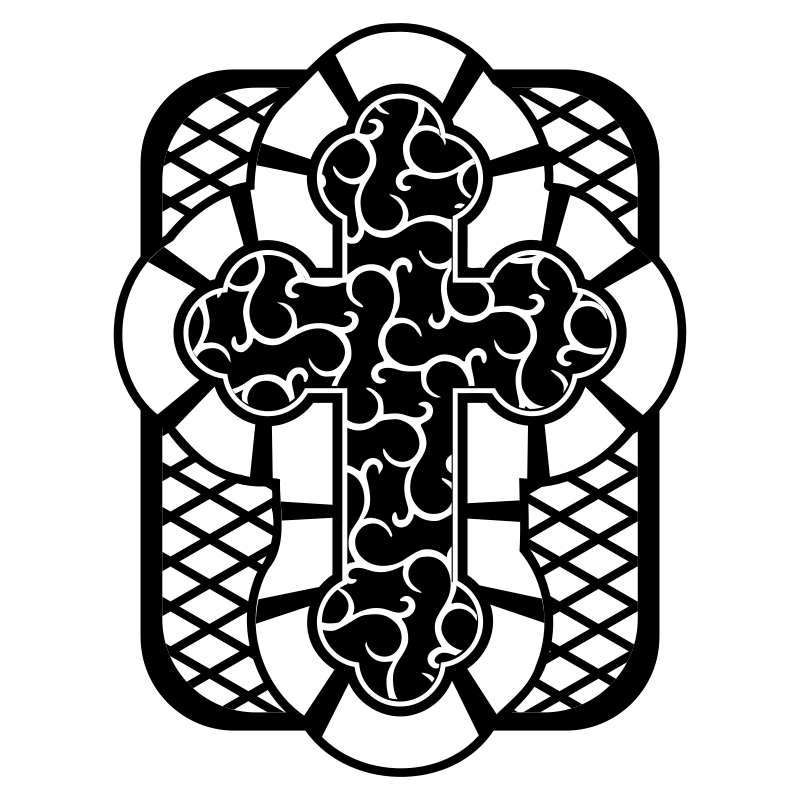 Free Cross 2 - Black and White